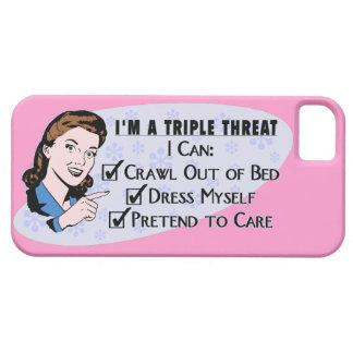 Funny Retro 50's Sarcastic Woman: Triple Threat iPhone SE/5/5s Case