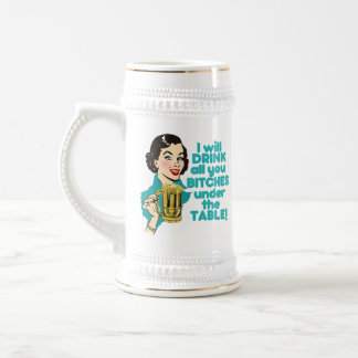 Funny Retro Alcohol Drinking Beer Stein