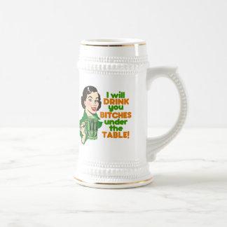 Funny Retro Beer Drinking Mug