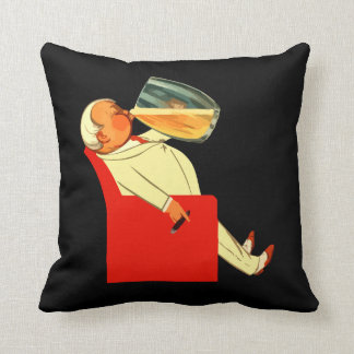 Funny retro beer event throw pillow