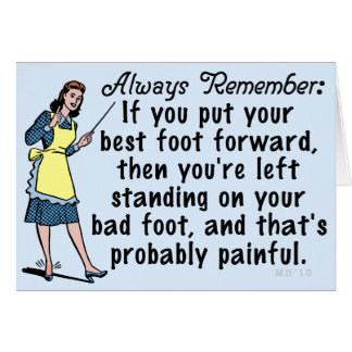 Funny Retro Best Foot Demotivational Card