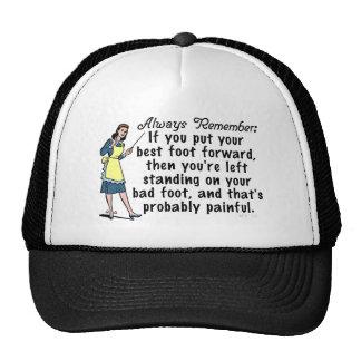 Funny Retro Best Foot Demotivational Trucker Hat