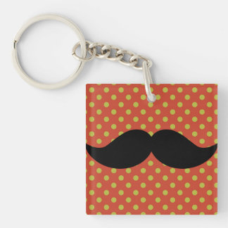 Funny Retro Black Handlebar Mustache Moustache Acrylic Key Chains