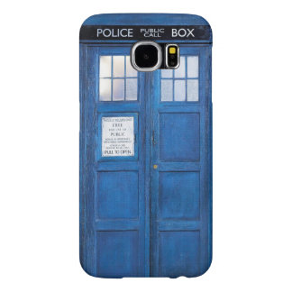 Funny Retro Blue Phone Booth Call Box Samsung Galaxy S6 Case