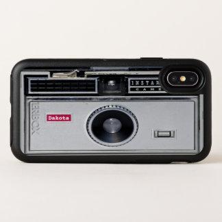 Funny Retro Camera Black OtterBox iPhone X Case