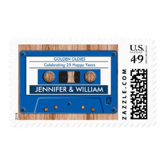 Funny Retro Cassette Tape Wedding Anniversary Stamp