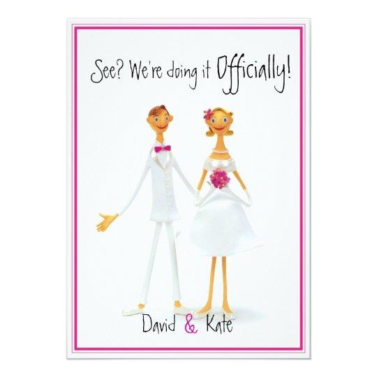 Humor Wedding Invitations: Funny Retro Cute Humorous Wedding Invitation