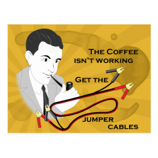 Funny Retro Dad Coffee Postcard
