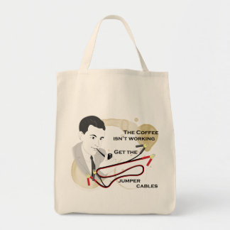 Funny Retro Dad Coffee Saying Tote Bag