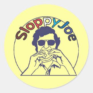 Funny Retro Funky Sloppy Joe joke Round Sticker