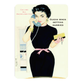 Funny retro gossip card