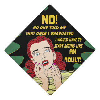 Funny Retro Graduation Cap Topper