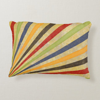Funny Retro Grunge Rays + your idea Accent Pillow