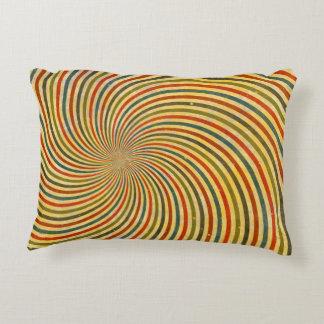 Funny Retro Grunge Swirl + your idea Accent Pillow