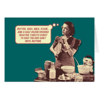 Funny Retro Housewife Card