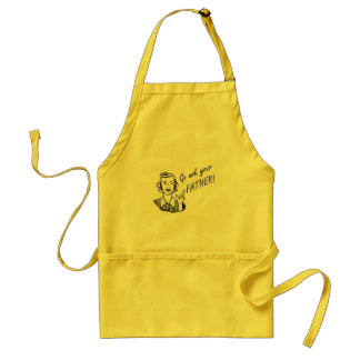 Funny Retro Housewife - Go Ask Your Father! Adult Apron