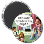 Funny Retro Housewife Magnet