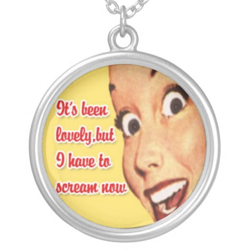 Funny Retro Housewife Necklace