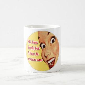 Funny Retro Housewife SCREAM Mug