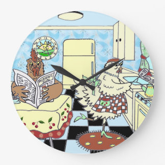 Funny Retro Kitchen Wall Clock