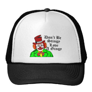 Funny Retro Love a Ginger Geeky Clown Trucker Hat
