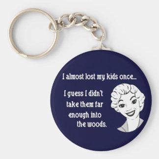 Funny Retro Mom Keychain