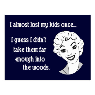Funny Retro Mom Postcard