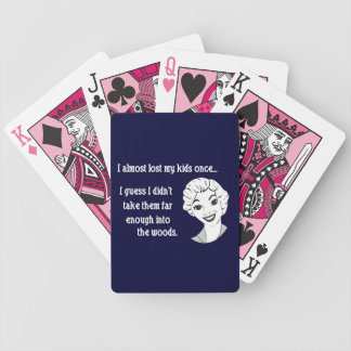 Funny Retro Mom Quote Playing Cards