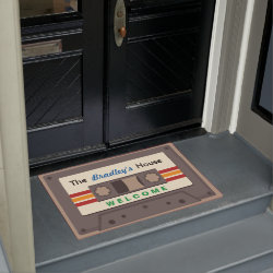 Funny Retro Music Cassette Mixtape Custom Home Doormat