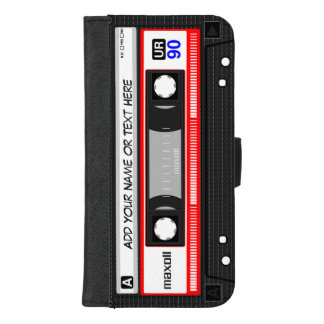 Funny Retro Music Cassette Tape iPhone 8/7 Plus Wallet Case