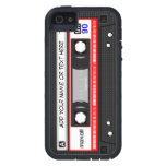Funny Retro Music Cassette Tape Pattern iPhone 5 Covers