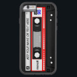 "Funny Retro Music Cassette Tape Pattern Tough Xtreme iPhone 6 Case<br><div class=""desc"">Protect your iPhone with this Personalized &quot;Funny Vintage Red Music Cassette Tape Pattern and Custom Text&quot; stylish case! This case is a perfect way to show off your name, monogram, or text. If you need further customization, please click the &quot;Customize it&quot; button and use our design tool to resize, rotate,...</div>"