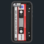 """Funny Retro Music Cassette Tape Pattern Tough Xtreme iPhone 6 Case<br><div class=""""desc"""">Protect your iPhone with this Personalized &quot;Funny Vintage Red Music Cassette Tape Pattern and Custom Text&quot; stylish case! This case is a perfect way to show off your name, monogram, or text. If you need further customization, please click the &quot;Customize it&quot; button and use our design tool to resize, rotate,...</div>"""