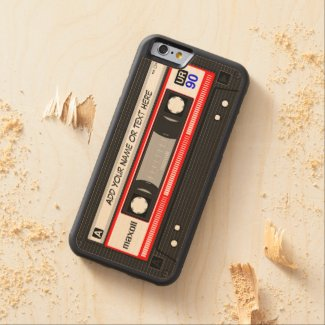 Funny Retro Music Cassette Tape Carved® Maple iPhone 6 Bumper Case