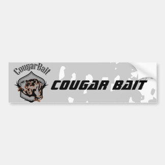 funny retro novelty humor cougar bait bumper sticker