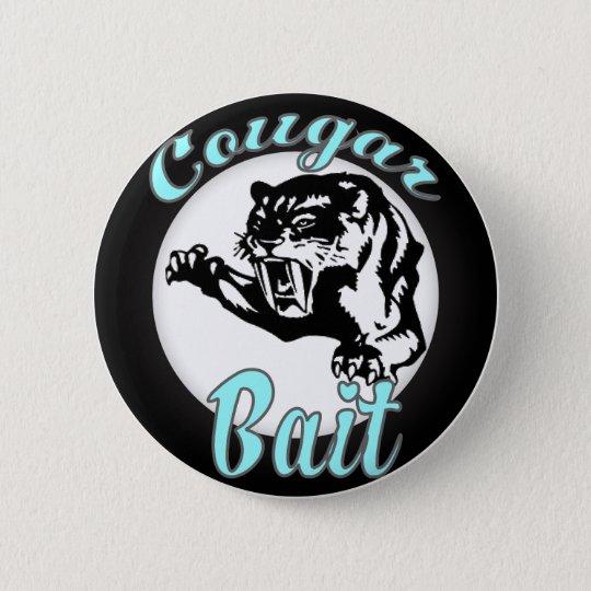 funny retro novelty humor cougar bait button