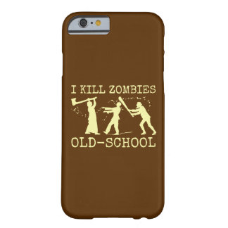 Funny Retro Old School Zombie Killer Hunter Barely There iPhone 6 Case