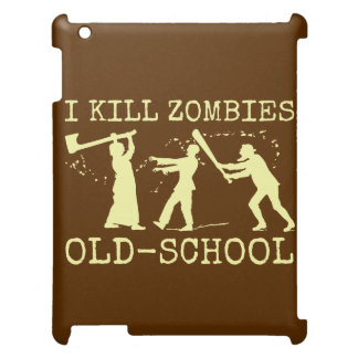 Funny Retro Old School Zombie Killer Hunter iPad Covers