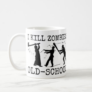 Funny Retro Old School Zombie Killer Hunter Mug