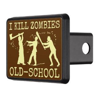 Funny Retro Old School Zombie Killer Hunter Tow Hitch Cover