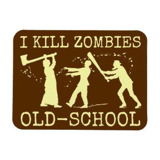 Funny Retro Old School Zombie Killer Hunter Rectangular Photo Magnet