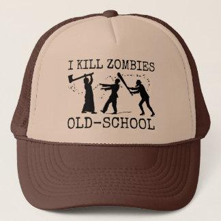 Funny Retro Old School Zombie Killer Hunter Trucker Hat