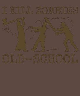 Funny Retro Old School Zombie Killer Hunter T Shirt