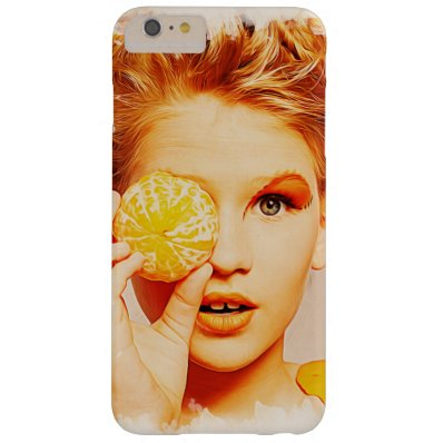 Funny Retro Painting Orange Girl Barely There iPhone 6 Plus Case