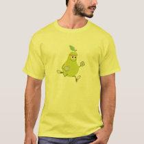 Funny Retro Pear Runner T-Shirt