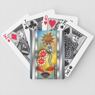 Funny Retro Pinball Machine Bicycle Playing Cards