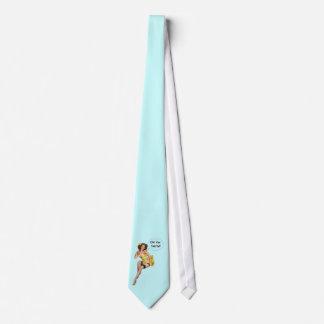 Funny Retro PinUp Girl OhYOu Nasty Tie