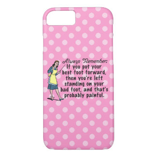 Funny Retro Polka Dot Best Foot Demotivational iPhone 7 Case