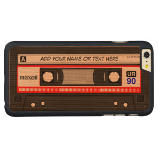 Funny Retro Red Music Cassette Tape Pattern Carved® Cherry iPhone 6 Plus Slim Case