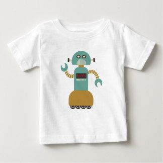 Funny Retro Roller Robot Baby T-Shirt